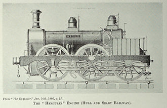 Hull and Selby Railway - Image: Hull and Selby railway Hercules locomotive