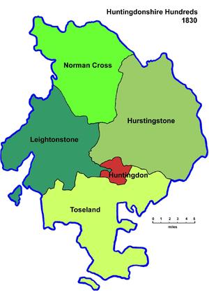 Hundreds of Huntingdonshire - Hundreds of Huntingdonshire in 1830