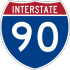 Interstate 90 marker