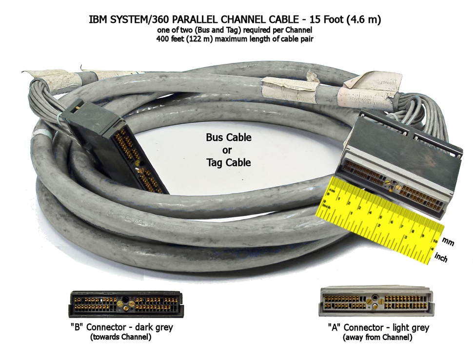 IBM 360 Bus Tag Cables