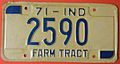 INDIANA 1971 -FARM TRACTOR LICENSE PLATE - Flickr - woody1778a.jpg