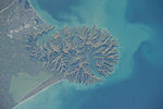 ISS-40 Banks Peninsula on the east coast of the South Island of New Zealand.jpg
