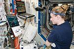 ISS-48 Kate Rubins in the Destiny lab.jpg