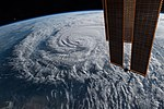 ISS-56 Hurricane Florence as it was making landfall (2).jpg