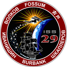alt=Description de l'image ISS Expedition 29 Patch.png.