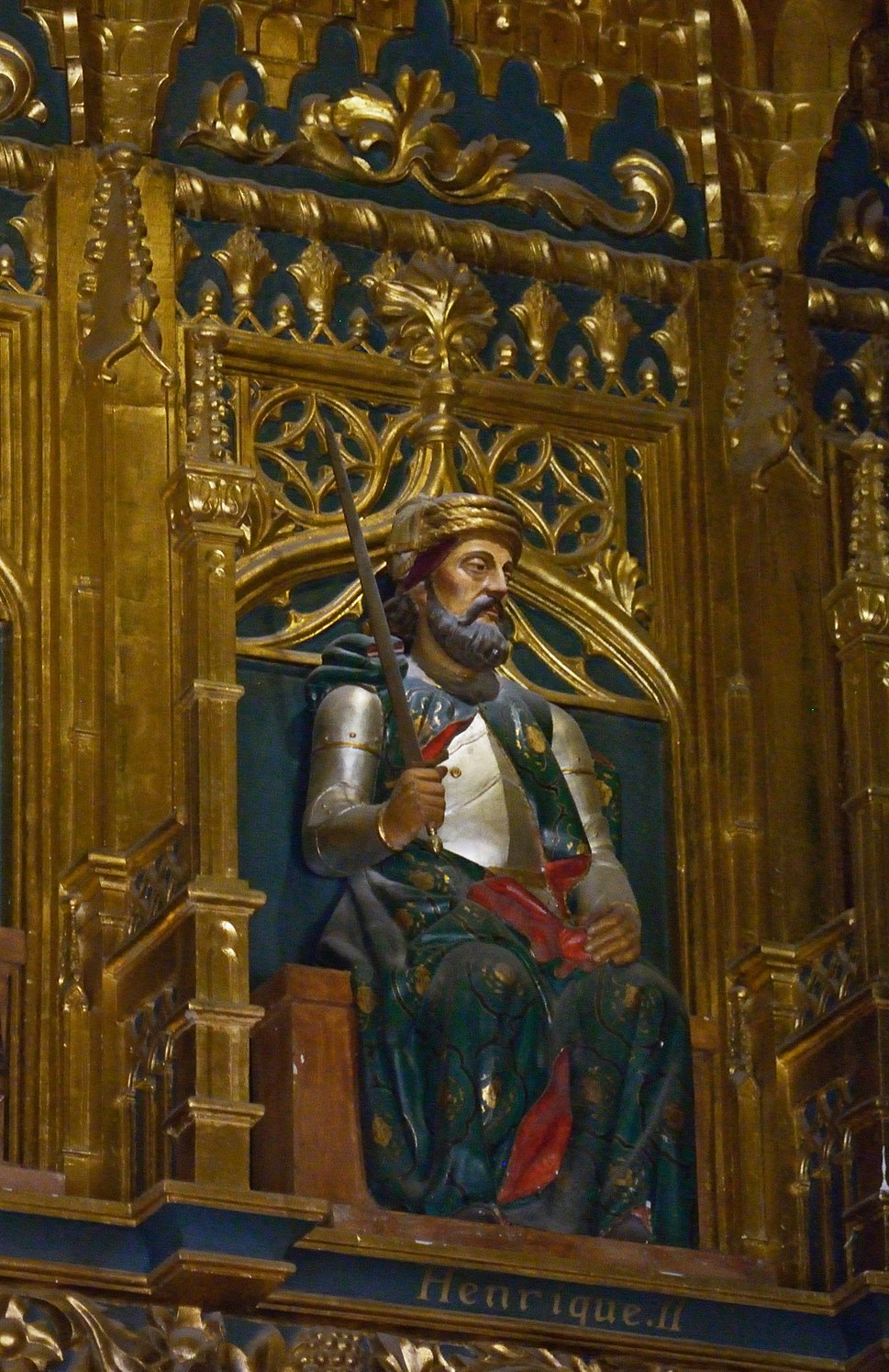 Image of the King Henry II of Castile (Enrique II de Castilla) in the Alcázar of Segovia