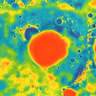 Mare Imbrium - Image: Imbrium basin GRAIL gravity