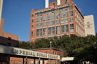 Imperial Sugar - The former Imperial Sugar factory in Sugar Land, Texas