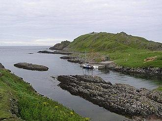 Inishtrahull - Landing place on Inishtrahull