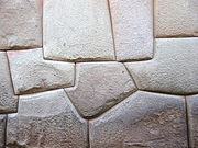 A detail of a Inca stone work at Cuzco.