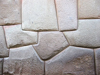 Dry stone - Inca wall of dry stone construction in Cusco, Peru