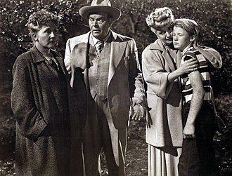Lee Patrick (actress) - Cast of Inner Sanctum L-R Nana Bryant, Billy House, Lee Patrick and Dale Belding