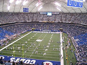 RCA Dome - Warm-ups before a game in the RCA Dome