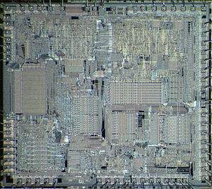 Intel 80186 - Die of Intel 80186.