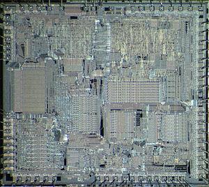 Intel 80186 - Die of Intel 80186.
