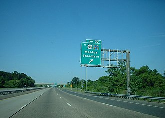 U.S. Route 130 - US 130 southbound along I-295 at exit 20 which provides access to Route 44 and CR 643