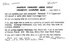 Invitation to First Homebrew Computer Club meeting.jpg