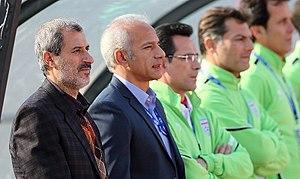 Mohammad Mayeli Kohan - Mayeli Kohan as technical manager with Iran U-23 team