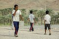 Iranian Baluchi children playing beach soccer. South kerman 03.jpg