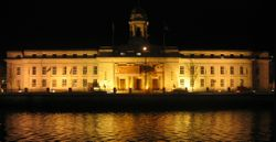 Ireland-Cork City-City Hall At Night.jpg