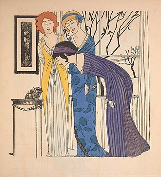Paul Iribe - Iribe illustration of modes by couturier Paul Poiret
