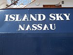 Island Sky Sign Island Sky Nassau Port of Tallinn 12 July 2018.jpg