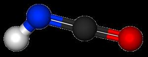 Isocyanic acid - Image: Isocyanic acid 3D balls