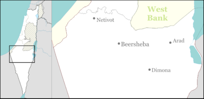 Location map Israel north negev