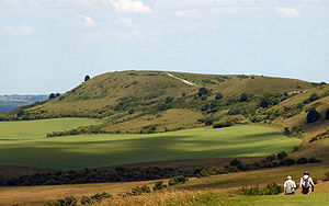 Walking in the United Kingdom - Ivinghoe Beacon, Buckinghamshire, England (the eastern trailhead) seen looking north from The Ridgeway