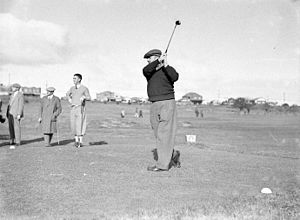Ivo Whitton - Whitton at the Australian Golf Club in Rosebery, NSW (ca. 1935–36)