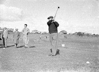 Ivo Whitton - Whitton at the Australian Golf Club in Rosebery, NSW (ca. 1935–36)