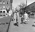 József körút és a Krúdy Gyula utca sarok, háttérben a Rákóczi tér. Fortepan 22515.jpg