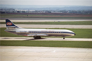 JAT Airways Flight 769 - The aircraft at London Heathrow Airport in the early 1970s