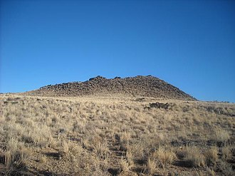 JA volcano - JA Volcano in Petroglyph National Monument, as seen from its western flank on January 14, 2009