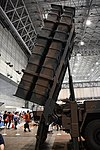 JGSDF Type 12 SSM launcher unit(04-0604, launch mode) missile canister right side view at Niconico chokaigi April 28, 2018.jpg