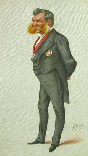 Lintorn Simmons - Sir John Lintorn Arabin Simmons by Carlo Pellegrini, 1877