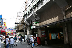 Kitaguchi, Ameya Yokocho the far left. (2007 taken on June 30)
