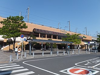Toda-Kōen Station - Toda-kōen Station west exit, April 2014