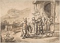 Jacob Receiving Joseph's Blood-Stained Cloak (recto); Study of a Bearded Man and The Sacrifice of Isaac (verso) MET DP800475.jpg