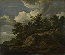 Jacob van Ruisdael (1628-1629-1682) - A Rocky Hill with Three Cottages, a Stream at its Foot - NG2564 - National Gallery.jpg