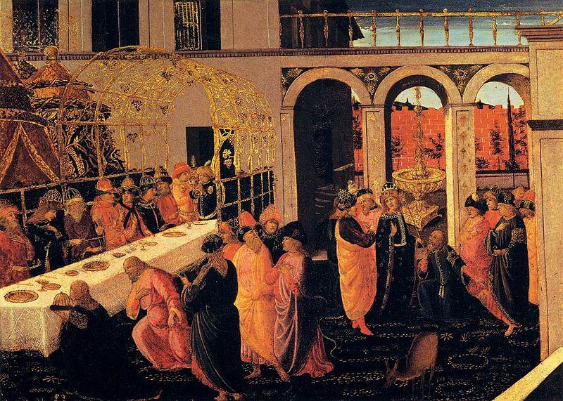 File:Jacopo del sellaio, banchetto di assuero, uffizi.jpg