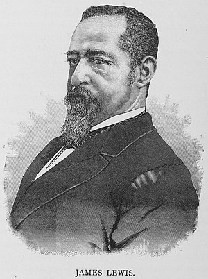 James Lewis (Louisiana politician) - Lewis in 1887