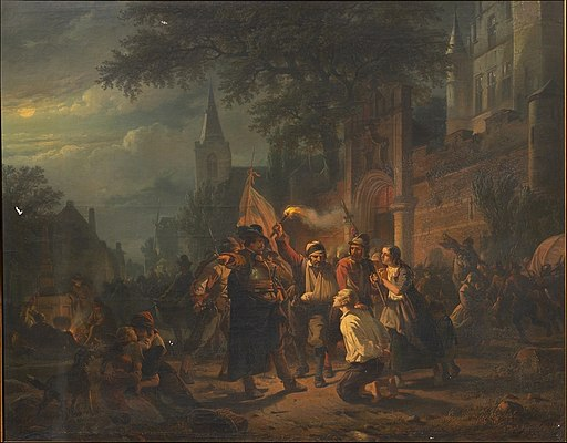 Jan Michiel Ruyten - The occupation of Berck by the troops of Maarten Schenck van Nydeggen