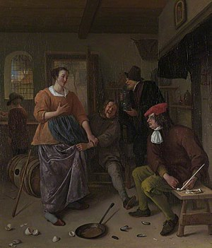 Mervyn Wingfield, 7th Viscount Powerscourt - Image: Jan Steen The Interior of an Inn ('The Broken Eggs') NG NG NG5637