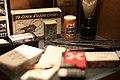 Janie Spot Cleaner, Razor case, Star British made razor blades, razor, etc. Baugnez 44 Historical Center WW2 museum 2012.jpg