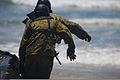 Japanese Maritime Self-Defense Force (JMSDF) members prepare to leave the beach during combat rubber rating craft training at Marine Corps Base Camp Pendleton in California June 4, 2013, during exercise Dawn 130604-M-QH793-009.jpg