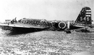 Mitsubishi Ki-21 - Ki-21 of the Daisan Dokuritsu Hikōtai at Yontan Airfield, 25 May 1945