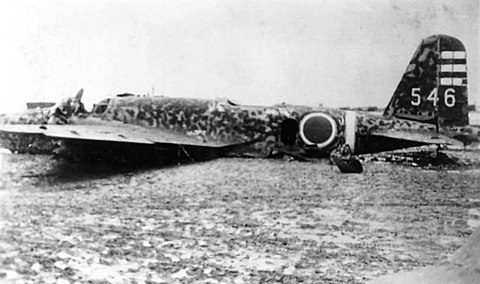 Japanese Ki-21 of Daisan Dokuritsu Hikotai at Yontan Airfield ,25 May 1945