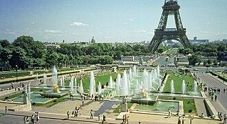 2013 Archery World Cup - Fontaines du Trocadéro, venue for the finals.