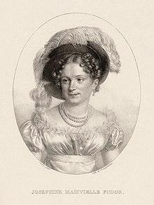 Joséphine Mainvielle-Fodor im Jahr 1815, Lithographie von Jean-Baptiste Singry (Quelle: Wikimedia)